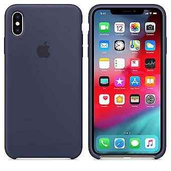 Originele Apple Siliconen Microfiber Cover Case voor iPhone XS Max - Midblue