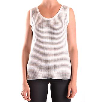 Armani Jeans Ezbc039020 Femmes-apos;s White Cotton Top