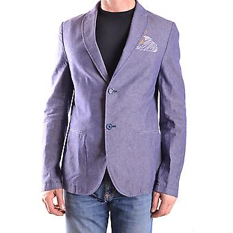 Daniele Alessandrini Ezbc107012 Men's Blue Cotton Blazer