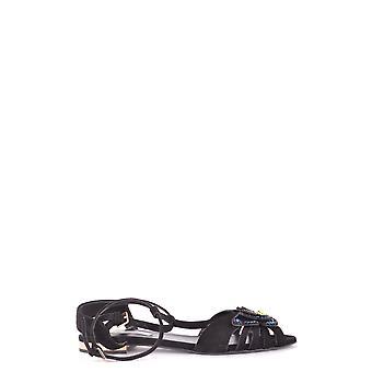 Ninalilou Ezbc115009 Women's Black Suede Sandals
