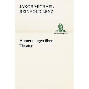 Anmerkungen Ubers Theater by Lenz & Jakob Michael Reinhold