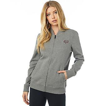 Fox Racing Womens Dragway Zip Fleece Jacket - Heather Graphite