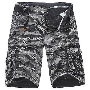 Allthemen Herren Baumwollhosen Camouflage Multi-Tasche Summer Shorts