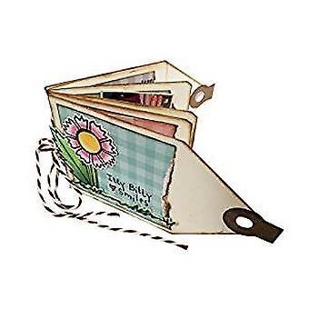 Muere el corte de spellbinders - Muere Tammy Tutterow Mini Tag Book Etched