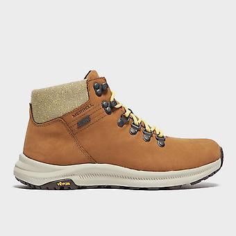 New Merrell Women's Ontario Mid Waterproof Walking Boots Brown