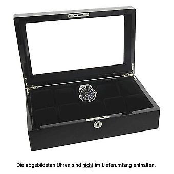 Caja de reloj de Augusta para el 10 de relojes negro alto brillo acabado 5569.1026