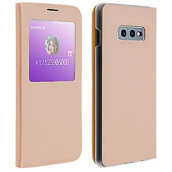 Smart view venster flip case voor Samsung Galaxy S10e, slim cover-goud