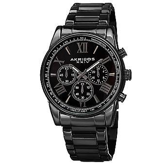 Akribos XXIV Männer Multifunktion Tachymeter Stainless Steel Armband Watch AK865BK
