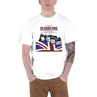 Beatles T-paita Beatles Story Band logo virallinen Mens New White