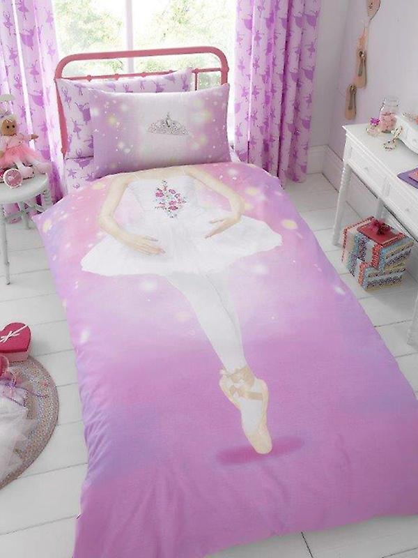 Ballerina Single Duvet Cover and Pillowcase Set