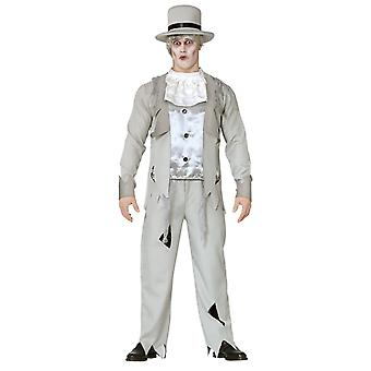 Volwassenen mens Zombie bruidegom Halloween fancy dress kostuum