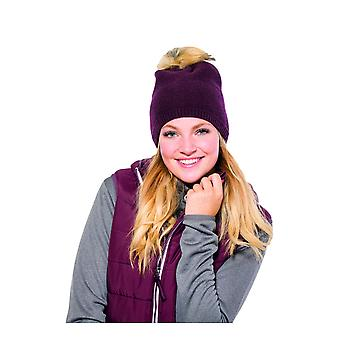 Eskadron Fanatics Faux Fur Bobble Hat - Blackberry