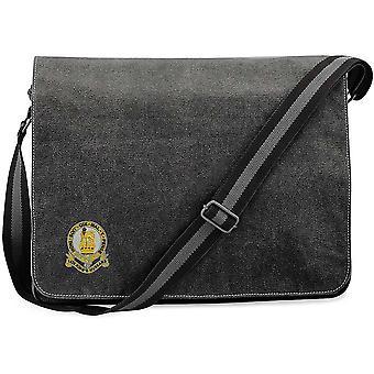 14th Kings Hussars - Licensed British Army Embroidered Vintage Canvas Despatch Messenger Bag