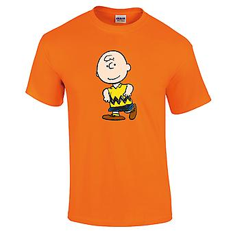 Peanuts Charlie Brown Women's Neon T-Shirt