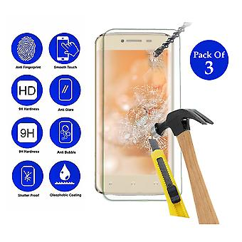 Pack of 3 Tempered Glass Screen Protection For All Call A1 4 5.5