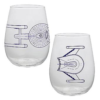 Star Trek 18 oz. Contour glasögon-set om två