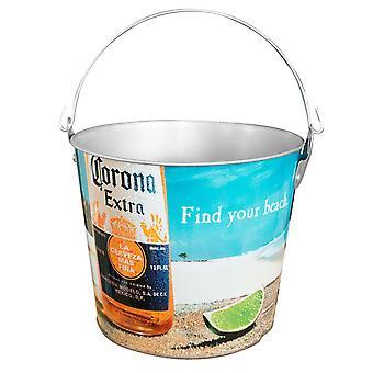 Corona Extra Beach Scene Beer Bucket With Built In Bottle Opener