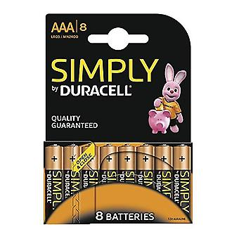 Duracell Simply AA Batteries - 8 Pack