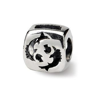 925 Sterling Silber poliert Reflexionen Fische Sternzeichen Perle Anhänger Anhänger Halskette Schmuck Geschenke für Frauen