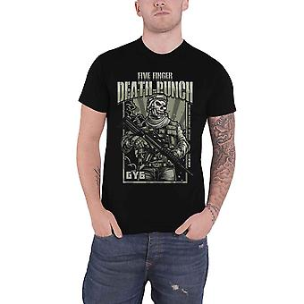 Five Finger Death Punch T Shirt War Soldier band Logo new Official Mens Black