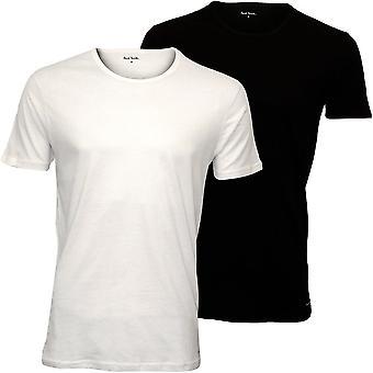 Paul Smith 2-pakning PS Crew-hals T-skjorter, svart/hvit