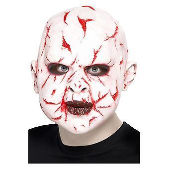 Mens Narbe Gesicht Maske Halloween Fancy Dress Zubehör