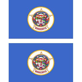 2 X Sticker Sticker Car Pc Vinyl Macbook Flag USA Americain Minnesota