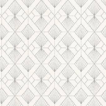 Modern Art Art Deco Geométrico Fan Wallpaper Rasch