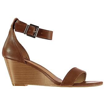 Aldo Womens Abaussa Stacked Wedge Ankle Strap Sandales Chaussures d'été