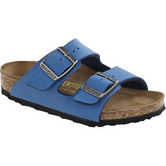 Birkenstock Kids Arizona Sandal Deep Water Blue 553833, Children Classic Two Strap Birkie Birkie
