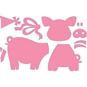 Marianne Design verzamelobjecten Eline's biggen sterven, roze