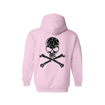 Men's Zip-Up Hoodie Skull and Cross Bones