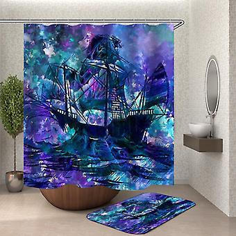 Art Ship Shower Curtain