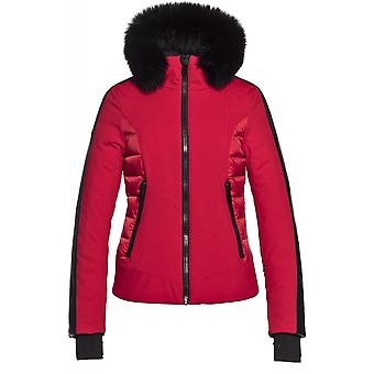 Goldbergh Kaja Jacket - Fake Fox Fur - Lava