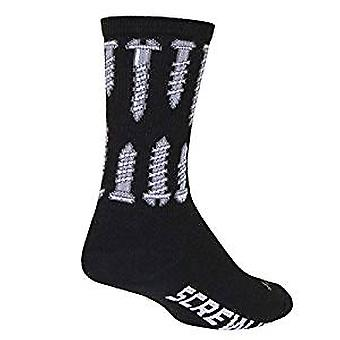 Chaussettes - Sockguy - 6'quot; Crew Screwit L/XL Cycling/Running