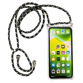 Telefoon keten voor Apple iPhone 11 Pro-smartphone ketting geval met band-snoer met geval te hangen in camouflage
