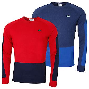 Lacoste Mens Colorblock Lã Golf Respirável Coolmax Tech Sweater