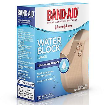 Band-aid water block plus bandages, large, 2 inch x 3 inch, 10 ea