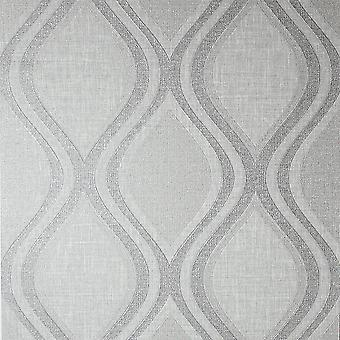 Curve Grey Wallpaper Arthouse Heavy Weight Vinyl Textured Paste The Wall