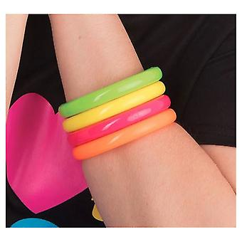 Bristol Novelty Unisex 80s Neon Bracelets (Set of 4)