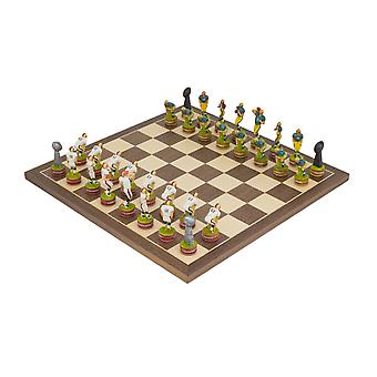 The American Football Hand painted themed Chess set by Italfama