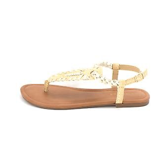 Rampage Womens Peace Leather Open Toe Casual Slingback Sandals