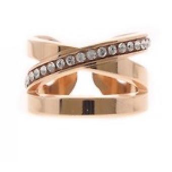 Vaihdettavat Ring A54254-Destructur e Strass e Gold Rose Crystal naiset