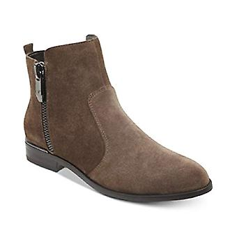 Marc Fisher Womens Rail Tecido Amêndoa Toe Ankle Fashion Boots
