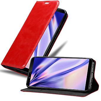 Cadorabo tapauksessa Vivo Y71 tapauksessa tapauksessa kansi - matkapuhelin tapauksessa magneettinen lukko, seistä toiminto ja korttiosasto - Case Cover suojakotelo tapauksessa kirja folding tyyli