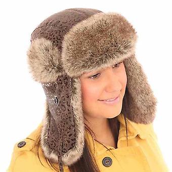 Neue Mens Womens Unisex Tier drucken Trapper warme Winter Thermal Hut AW112