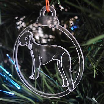 犬安物の宝石をクリア アクリル クリスマス装飾 6 個パック - ベドリントン ・ テリア