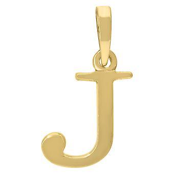 925 Sterling Zilver Gele toon Mens Vrouwen Letter Naam Gepersonaliseerde Monogram Initial J Charme Hanger Ketting Maatregelen 2
