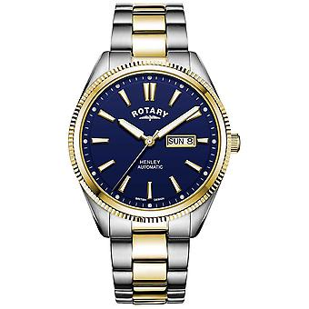 Rotary Men's Henley | Two-Tone Stainless Steel Bracelet | Blue Dial GB05381/05 Watch