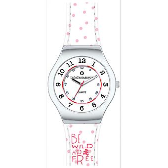Kid Lulu Castanet 38851 - watch Mini Star leather white steel round girl